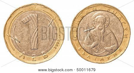 One Bulgarian Leva Coin
