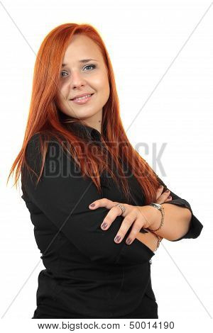 Business woman portrait . Crossed arms.