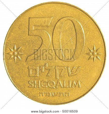 50 Israeli Old Sheqels Coin