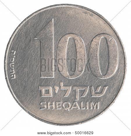 100 Israeli Old Sheqels Coin