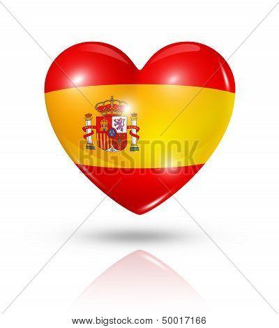 Love Spain, Heart Flag Icon