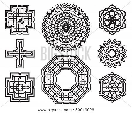 Set of knot design elements
