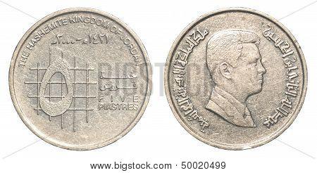 5 Jordanian Piasters Coin