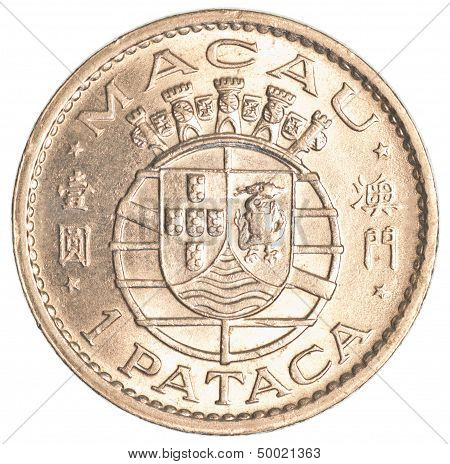 Old One Macanese Pataca Coin