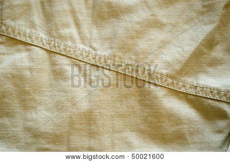 Closeup Of  Bright Pant Fabric Stitch Background
