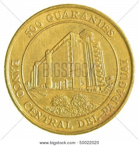 500 Paraguayan Guaranies Coin