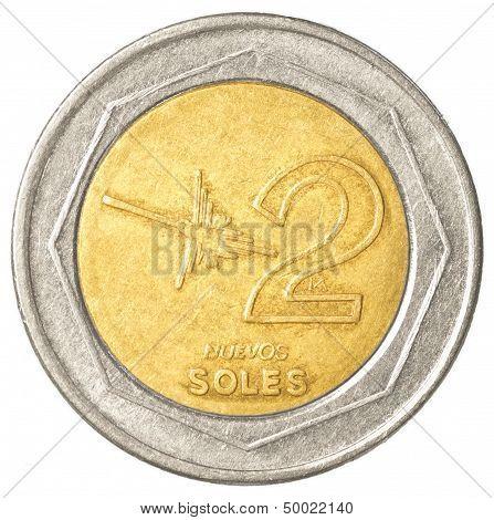 2 Peruvian Nuevo Sol Coin
