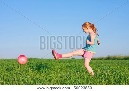 Girl With Ball Outdoor