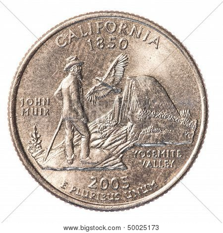 Us Quarter Coin - State Of California