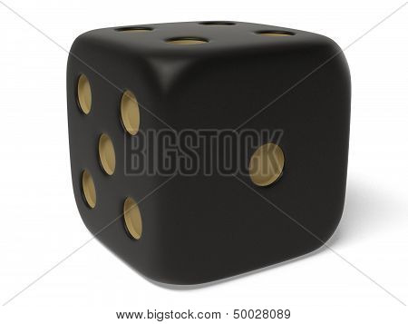 Black isolated dice.