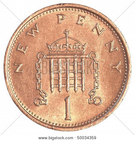 1 british pennies coin