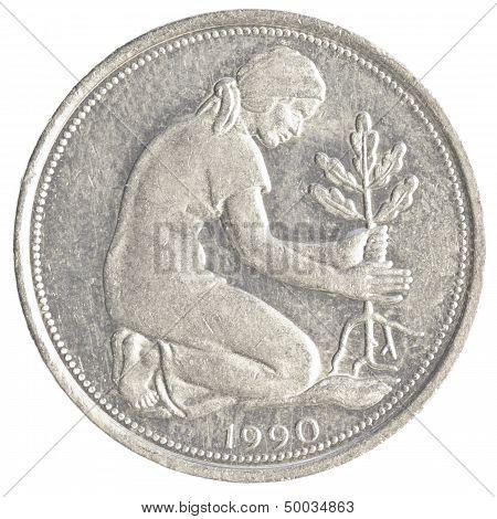 50 German Mark Pfennig Coin