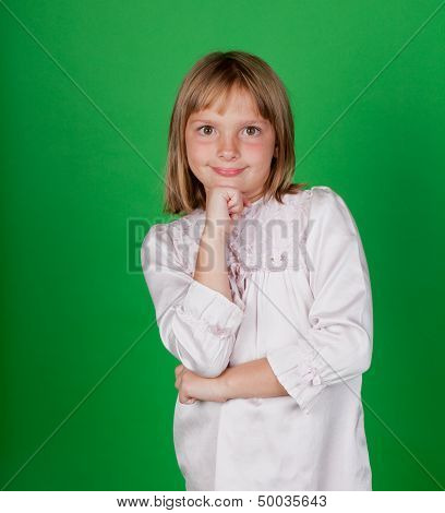 Little Girl In A Nightgown