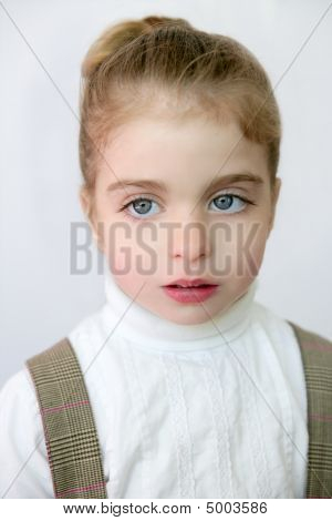 Beautiful Little Student Girl Portrait