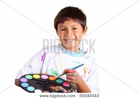 Young boy artist