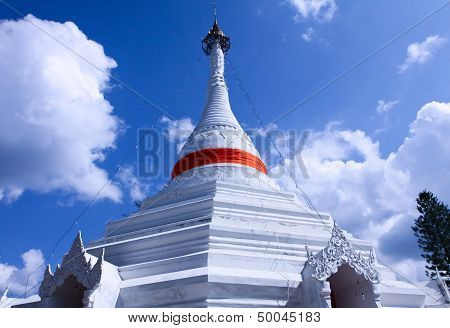 Huge Pagoda In North Of Thailand