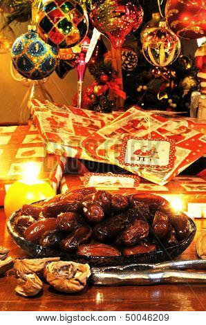 Sticky dates and Christmas presents.