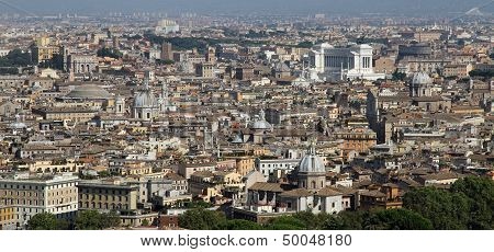Panoramic View Of The City Of Rome From Above The Dome Of The Church Of San Pietro 1