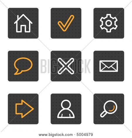Basic Web Icons, Grey Buttons Series