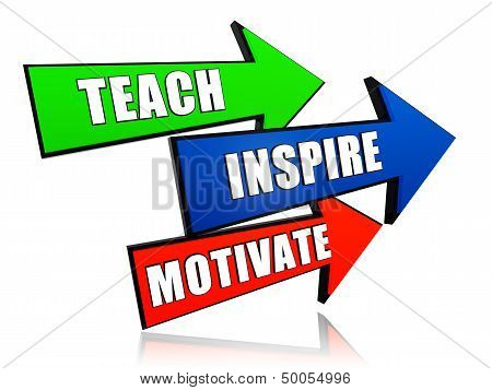 Teach, Inspire, Motivate In Arrows