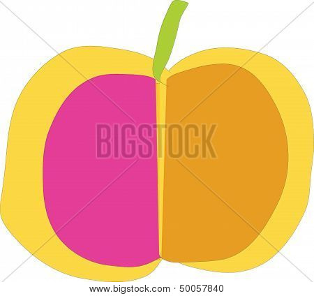apple, cut, proportion,