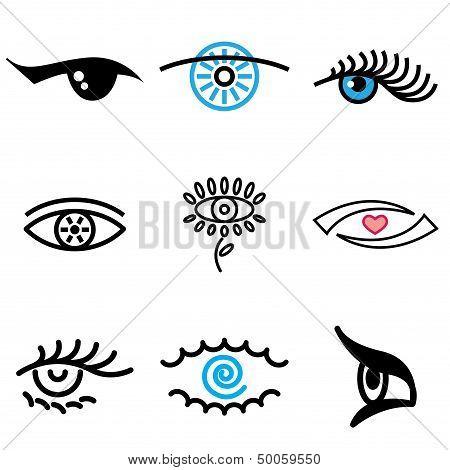 Eye Hand Drawn Icons