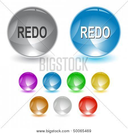 Redo. Raster interface element. Vector version is in portfolio.