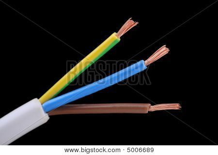 Twin Core And Earth Electrical Cable Wire