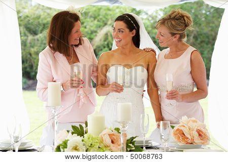 Multi Generation Women At Wedding