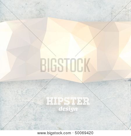 Retro geometric pattern. Mosaic hipster banner. With place for your text. Retro triangle background.