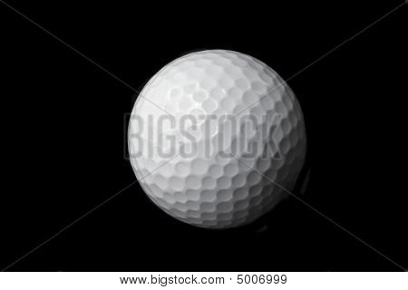 Isolated Golf Ball