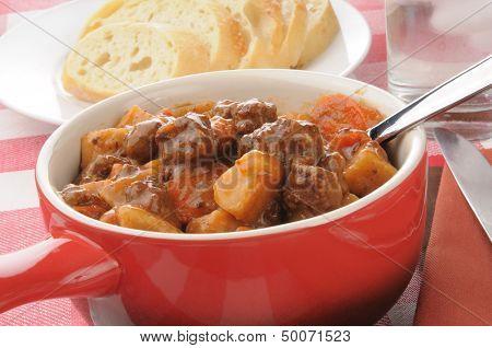 Closeup Of Beef Stew