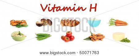 Food sources of vitamin D, isolated on white