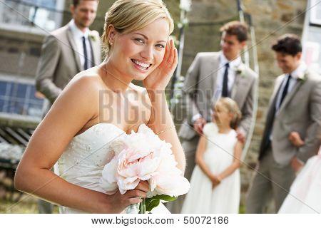 Retrato de novia en boda