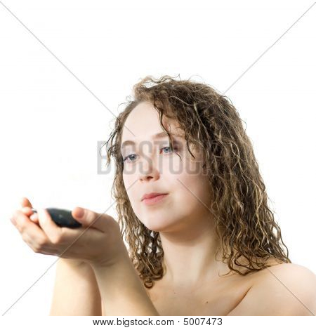 Woman With Small Stone