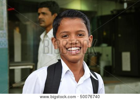 Smiling Indian Schoolboy