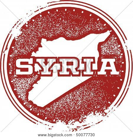 Syria Country Rubber Stamp