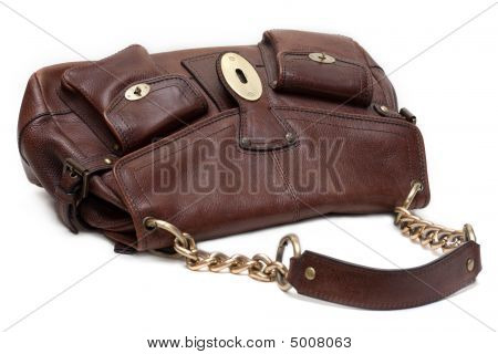 Beautiful Brown Leather Feminine Bag