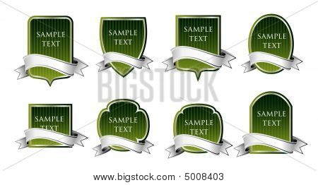 Set Of Green Labels