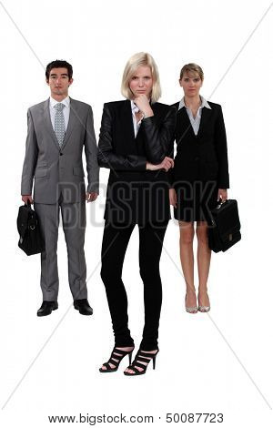 A team of ambitious business professionals