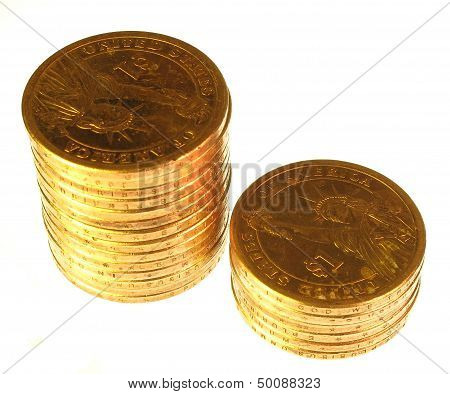 One dollar coins