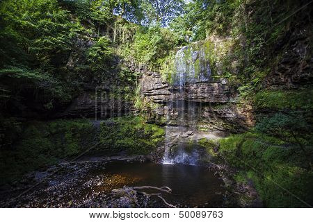 Waterfall In Brecons - Henrhyd Falls, Powys, Wales
