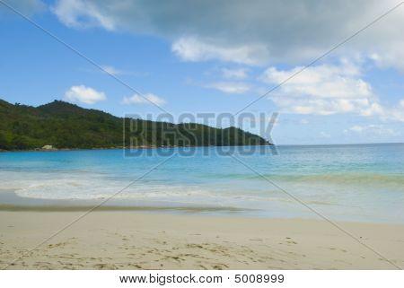Anse Lazio Beach. Seychelles Seascape. Praslin