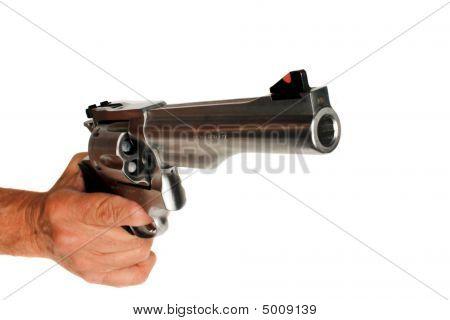 44 Magnum pistola revólver isolado