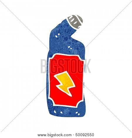 retro cartoon bleach bottle