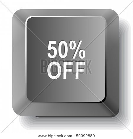 50% OFF. Vector computer key.
