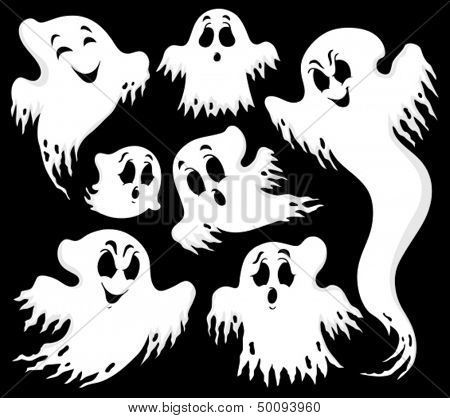 Ghost topic image 1 - eps10 vector illustration.