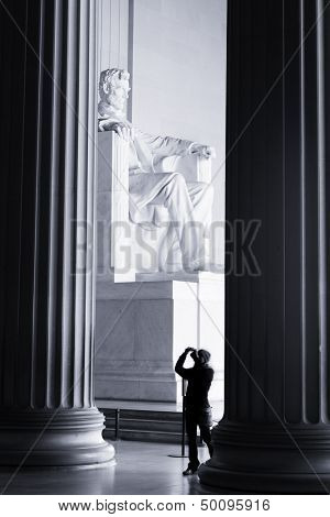 Lincoln Memorial interior - Washington DC, United States