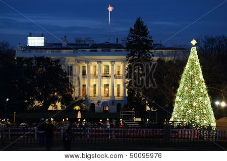 The White House in Christmas - Washington DC, United States