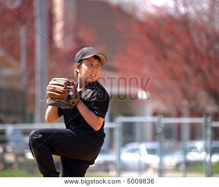 Baseball Pitcher Focus